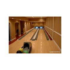 TechEBlog » PICTURES: $88,000 Indoor Home Bowling Alley - Photo ❤ liked on Polyvore