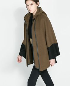 Image 3 of COMBINATION CAPE from Zara