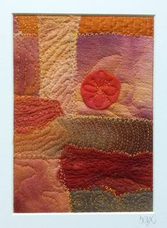 Original Mounted Textile Art  Sunset Over The by MadbirdTextiles, £15.00