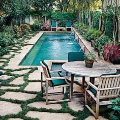 Pool with great landscaping.