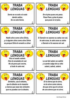 Spanish short tongue twisters.