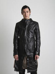 Boris Bidjan Saberi | Vegetable tanned leather jacket.