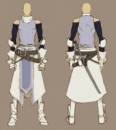 White Swordman - concept by MizaelTengu.deviantart.com on @deviantART ✤ || CHARACTER DESIGN REFERENCES | キャラクターデザイン