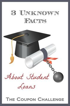 When you are working on debt, one of the biggest problems many individuals face are their student loans.  Learn 3 little know facts about student loans and why you should remember student loans when getting out of debt.