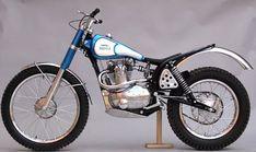Vintage trials motorcycle