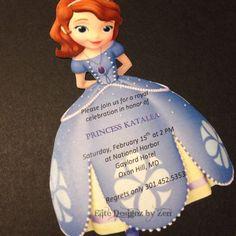 Sofia+the+First+birthday+invitation+by+EliteDesignzbyZen+on+Etsy,+$1.25