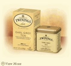 EARL GREY  Fine black tea expertly blended with the citrus fruit flavor of bergamot, to deliver an uplifting tea with a unique floral aroma and refreshing taste.