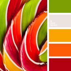 amarillo miel, anaranjado y crema, anaranjado y rojo, anaranjado y verde, anaranjado y verde lechuga, color carmín alizarina, color mandarina, colores verde lechuga y crema, crema y anaranjado, crema y rojo, crema y verde, crema y verde lechuga, rojo y anaranjado, rojo y crema, rojo y