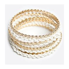 Jump Through Hoops Bracelet ($15) ❤ liked on Polyvore featuring jewelry, bracelets, bracciali, bracelet bangle, bracelets & bangles, white bangle bracelet, bangle bracelet and hinged bracelet