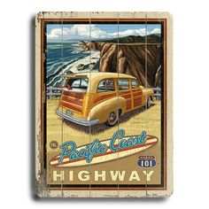 Vintage California sign. Want SO much~