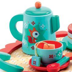 Djeco's Fox Tea Party Set. #wood #kids #gift
