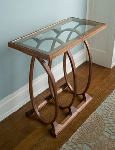 Coil Console by Derek Hennigar (Wood Console Table) Furniture Repair, Deco Furniture, Unique Furniture, Wooden Furniture, Furniture Making, Furniture Design, Steam Bending Wood, Center Table Living Room, How To Bend Wood