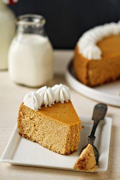 Pumpkin Cheesecake. Thanksgiving pumpkin recipes