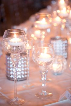 Candles and Mercury Glass | photography by www.amyandjordan.... | floral design by www.petalsandlucy... | event design by www.laurakehoedes...