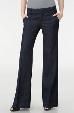 Business casual trouser jeans: yay or nay - Business casual trouser jeans: yay or nay Tory Burch Stretch Denim Trouser Jeans Jean Outfits, Casual Outfits, Cute Outfits, Trouser Outfits, Business Casual Trousers, Nordstrom Jeans, Outfit Jeans, Women's Jeans, Shoes With Jeans