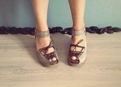 Earthy colours  at DaWanda SINDRI - Green - FREE SHIPPING Handmade Shoes from Keyman Design by DaWanda.com