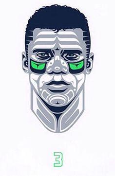 Russel Wilson Native American art. Nfl seahawks. Nike. Seattle. Sneakerhead