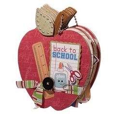 This would be such a cute teacher's gift for the end of the school year. Include pics of the whole class. Made from #Imaginisce papers & die cuts