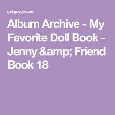 Album Archive - My Favorite Doll Book - Jenny & Friend Book 18