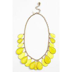 kate spade new york 'petal pusher' bib necklace ($148) ❤ liked on Polyvore