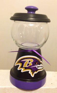 Baltimore Ravens candy jar http://squareup.com/market/erica-alejandre-2