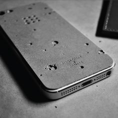 Concrete is such a versatile products - check out this great Iphone cover!