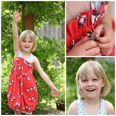 Sail Boat Bubble Dress: Alida Makes...when the girls can't wear it as a dress anymore, I will take off the straps and they will wear it as a bubble skirt.  Want to know how to make one?  Here's how: