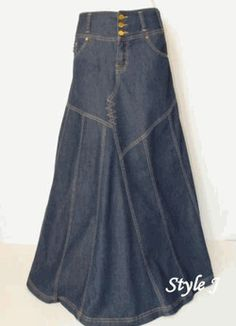 cute skirt from Jeans - this would be fun to scale down to doll size