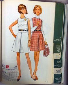 A page in the Butterick pattern catalog from September 1969. #butterickpatterns #madmen #vintagebutterickpatterns #vintagefashion