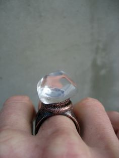 Clear Quartz Ring Master Healer Shaman Ring by SilviasCreations, $79.00