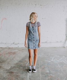 cfca37d415 Black   White and Denim All Over · Overalls OutfitVans OutfitPlatform ...