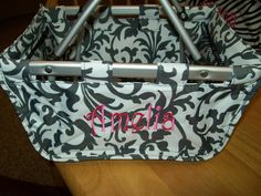 Personalized min market totes, great for brides, bridesmaids, mom, kids, daughters, shower gifts, baby gifts and more$30