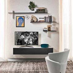 wall shelves design tv shelving units wall mounts ideas with proportions 950 x 945 auf Tv Wall Shelving Units Wall Decor Above Tv, Shelf Above Tv, Wall Mount Tv Shelf, Tv Stand Shelves, Tv Wall Cabinets, Wall Shelving Units, Photo Wall Decor, Wall Shelves Design, Wall Mounted Shelves