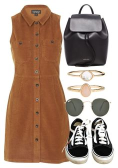 """""""Untitled #5773"""" by rachellouisewilliamson on Polyvore featuring Topshop, Vans, Mansur Gavriel, Ray-Ban and Accessorize"""