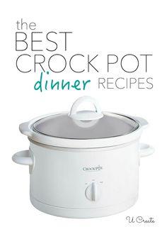 The BEST crock pot dinner recipes - tried and true delicious!! U-createcrafts.com