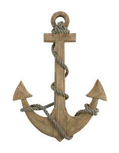 Nautical Natural Wooden Ship's Anchor