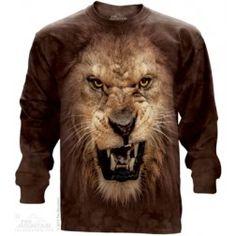 Big Face Roaring Lion Bluza #bluze #cadouri #themountain #bluza3D