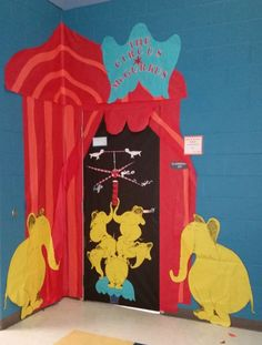 Read Across America, Dr. Seuss, If I Ran the Circus, Circus McGurkus. My door for Read Across America this year.