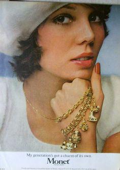 Charms Bracelets Charm of Its Own Monet Jewelry Vtg 1974 Magazine Print Ad