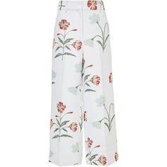 Capri Straight Pant | Moda Operandi (32,020 INR) ❤ liked on Polyvore featuring pants, capris, suit, zip pants, side pocket pants, capri trousers, zipper pants and capri pants