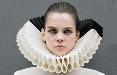 Avant-Garde Elizabethan Collars: 'A Call to Armor' by Gareth Pugh in NY Times Style Magazine. could make this out of coffee filters
