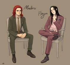 Maedhros and Fingon AU