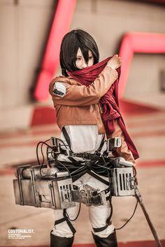 Mikasa Ackerman #cosplay from Attack on Titan (Shingeki no Kyojin) | http://www.crunchyroll.com/attack-on-titan
