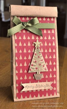 Card Creations by Beth: Petite Cafe Gift Bags, great for food items this Christmas!