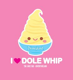 ADORE the Dole Whips! It's in my Disneyland routine.Dole Whip and the Tiki Room! Disney Movies, Disney Pixar, Disney Stuff, Punk Disney, Disney Bounding, Disney Theme, Disney Characters, Chibi, All I Ever Wanted