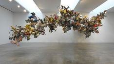 From Gagosian, Nancy Rubins, Our Friend Fluid Metal Aluminum, stainless steel, 204 × 500 × 281 in Sculpture Art, Sculptures, Playground Toys, Gagosian Gallery, Lawn Ornaments, Color Blending, Art And Architecture, Installation Art, Artsy