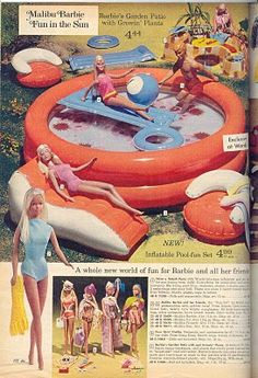 my barbie blow up pool! if i could only find the barbie snow mobile they drove… Malibu Barbie, Barbie 80s, Barbie World, Barbie And Ken, Vintage Barbie, Vintage Dolls, Barbie Stuff, Vintage Toys 80s, Retro Vintage