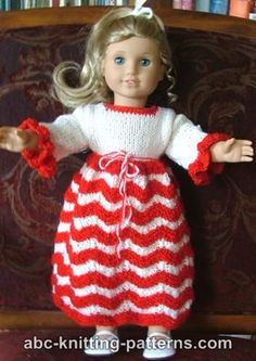 American Girl Doll Candy Cane Dress
