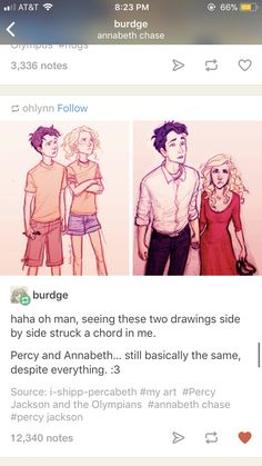 Percy is confused Annabeth is the opposite.