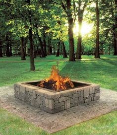 Diy project ideas landscaping backyard with fire pit (1)